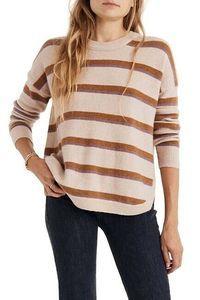 Madewell Westlake Coziest Yarn Sweater M Stripe